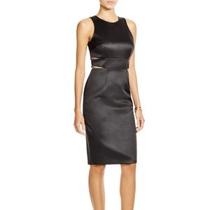 Cynthia Rowley black cutout sheath cocktail dress